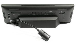 SEIKO デジタル電波時計 DL305Kの背面と設定ボタン