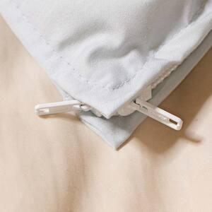 エムール アルファインの掛け布団カバーのL型ファスナー