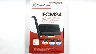 NVMe SSD SN750とPCI-E M2変換 SST-ECM24の温度