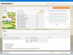 SN750 WDS100T3X0C PCMARK8 Storage Test Gaming Mode OFF