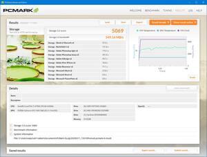 SN750 WDS100T3X0C PCMARK8 Storage Test Gaming Mode ON